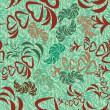 Decorative seamless pattern — Stockvectorbeeld
