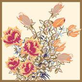 花カード — ストックベクタ
