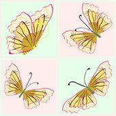 Butterflies. — Stock vektor