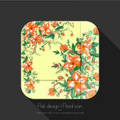 Floral icon — Stock Vector