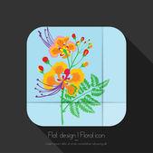 Icône floral — Vecteur