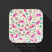 Floral pictogram — Stockvector