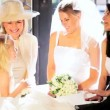 Stock Video: Family Group Young Bride Mother Bridesmaid Grandma