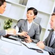 Royalty-Free Stock Imagen vectorial: Multi Ethnic Business Team Modern Boardroom