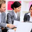 Stock Video: Informal Meeting Multi Ethnic Business Team