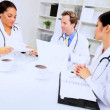 Team Meeting Male Female Hospital Consultants — Stock Video