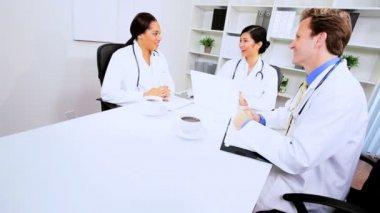 Financial Team Meeting Medical Executives — Stock Video