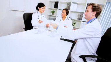 Financial Team Meeting Medical Executives — Stock Video