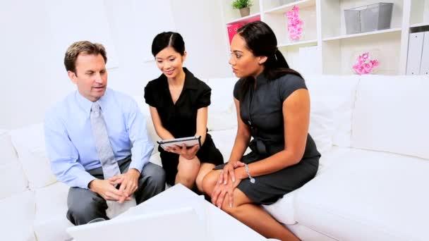 Smart Young Business Team Meeting — Vidéo