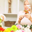 Retirement Leisure Flower Arranging — Stock Video