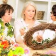 图库视频影像: Senior Multi Ethnic Ladies Craft Class