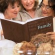 Group Mature Girlfriends Looking Photo Album - Stock Photo