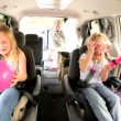 Young Caucasian Family Beach Car Trip — Stockvideo