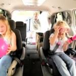 Young Caucasian Family Beach Car Trip — Stock Video