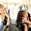 Parents Children Preparing Car Outing — Wideo stockowe