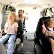 Parents Children Preparing Car Outing — Stok Video #17646941