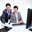Latin American Business Manager Working Assistant - Stock Photo