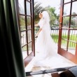Stock Video: Traditional Bride Home Balcony