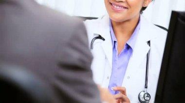 Female Doctor Handshake Financial Advisor — Stock Video
