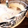 Bride Walking Through Marble Foyer  — Stock Video