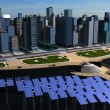 Digital Concept Clean Power Eco System City - Stock Photo