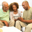 African American Family Wireless Tablet Technology — Stock Video #17703213