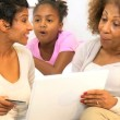 Stock Video: African American Generations Online Shopping