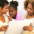 Three Generations Ethnic Females Online Shopping - Stock Photo