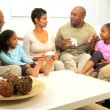 African American Family Home Games Entertainment — Stock Video