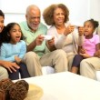 Extended Ethnic Family Home Games Fun — Stock Video #17703891