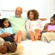 Three Generations African American Family Leisure — Stock Video