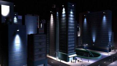 Concept numérique propre puissance éco système ville — Vidéo