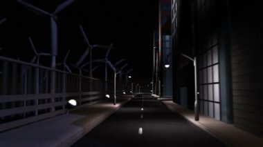 CG Concept City Clean Energy Lighting — Stock Video