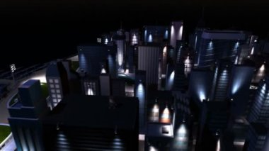 Cg temiz enerji şehir seçici aydınlatma Powered by — Stok video