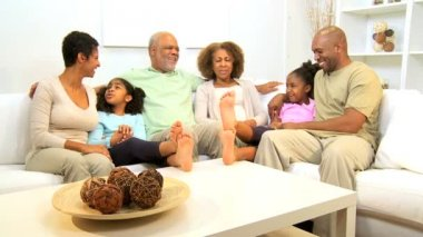 Loving Ethnic Family Home Time Together — Stock Video #17704069