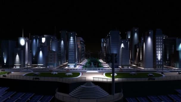 CG Concept Selective Lighting in Cities — Vidéo