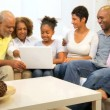 Royalty-Free Stock  : African American Generations Wireless Technology