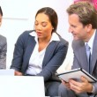 Female African American Team Leader Informal Meeting — Video Stock