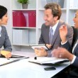Multi Ethnic Business Team Success Congratulations — Stock Video #17879705