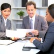 Multi Ethnic Boardroom Business Meeting - Foto Stock