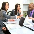 Multi Ethnic Boardroom Business Meeting — Stok Video #17883099