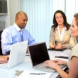 Stock Video: Team Meeting Multi Ethnic Advertising Agency Executives