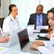 Financial Advisor Meeting Medical Team — Stock Video