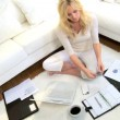 Female Home Businesswoman - Stock Photo