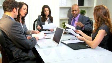 Caucasian Business Female Leader Successful Team — Stock Video