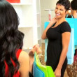 Girlfriends Shopping Chic Boutique — Stock Video