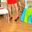 Females Admiring New Shoes - 