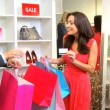 Customer Paying Goods Small Boutique — Stockvideo