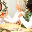 Stock Video: Mature Ladies Hobby Flower Arranging