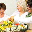 Senior Ladies Flower Arranging  — Stok video
